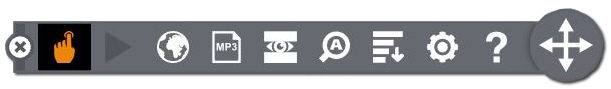A graphic of the BrowseAloud toolbar