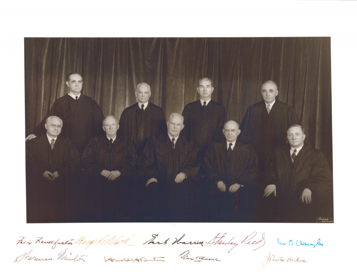 The 1954 United States Supreme Court Justices
