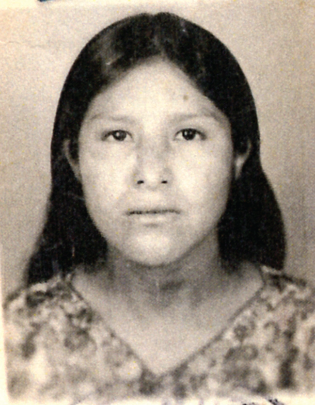 A female Native-American victim of human trafficking